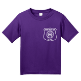 Youth Purple Harand Theatre Camp - Left Chest White Shield Logo T-shirt