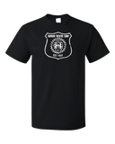 Standard Black Harand Theatre Camp - Full Chest White Shield Logo T-shirt