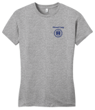 Girly Grey Harand Theatre Camp - Sun Logo Left Chest Royal Print T-shirt