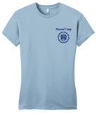 Girly Light Blue Harand Theatre Camp - Sun Logo Left Chest Royal Print T-shirt