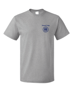 Standard Grey Harand Theatre Camp - Sun Logo Left Chest Royal Print T-shirt