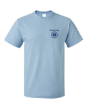 Unisex Light Blue Harand Theatre Camp - Sun Logo Left Chest Royal Print T-shirt