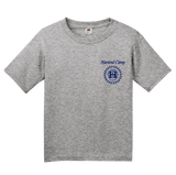 Youth Grey Harand Theatre Camp - Sun Logo Left Chest Royal Print T-shirt