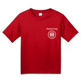 Youth Red Harand Theatre Camp - Sun Logo Left Chest White Print T-shirt