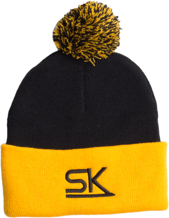 Team StarKid - Navy and Gold Winter Pom Hat
