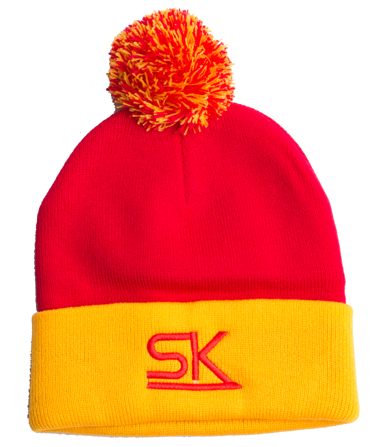 896a4657981 Team StarKid - Red and Gold Winter Pom Hat