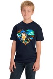 Youth Navy Alaska Icon Heart - Alaska Love Cute Pride Icons Heritage Yukon T-shirt