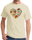 Standard Natural I Heart Australia - Aussie Love Koala Cute Animals Symbols T-shirt