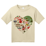 Youth Natural I Heart Austria - Austrian Love Cute Heritage Symbols Icons Alps T-shirt