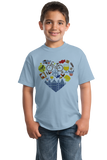 Youth Light Blue I Heart Belgium - Belgian Love Cute Culture Heritage Pride Gift T-shirt