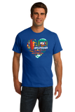 Standard Royal California Icon Heart - Cali Love Cute Culture Symbols Pride T-shirt