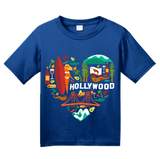 Youth Royal California Icon Heart - Cali Love Cute Culture Symbols Pride T-shirt