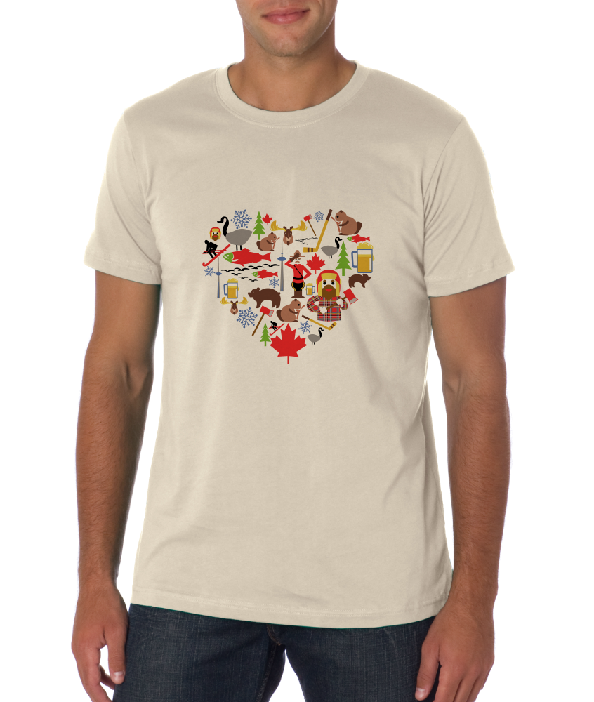 Standard Natural Canada Icon Heart - Canadian Love Heritage Cute Culture Symbols T-shirt