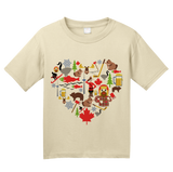 Youth Natural Canada Icon Heart - Canadian Love Heritage Cute Culture Symbols T-shirt