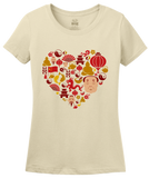 Ladies Natural China Icon Heart - Chinese Love Heritage Cute Culture Symbols T-shirt
