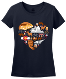 Ladies Navy Colorado Icon Heart - Colorado Love Cute Pride Culture Rockies T-shirt