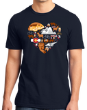 Standard Navy Colorado Icon Heart - Colorado Love Cute Pride Culture Rockies T-shirt