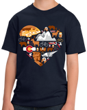 Youth Navy Colorado Icon Heart - Colorado Love Cute Pride Culture Rockies T-shirt