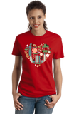 Ladies Red Georgia Icon Heart - Georgia Love Atlanta Culture Southern Pride T-shirt