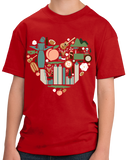 Youth Red Georgia Icon Heart - Georgia Love Atlanta Culture Southern Pride T-shirt