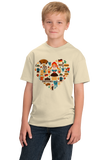 Youth Natural Germany Icon Heart - German Love Pride Heritage Icons Cute Fun T-shirt