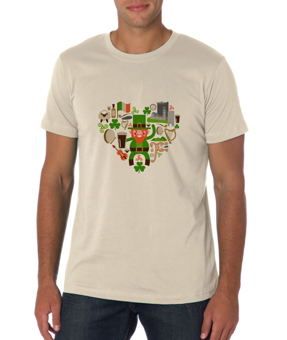 Standard Natural Ireland Icon Heart - Irish Love Pride Heritage Cute Culture Fun T-shirt