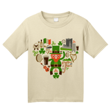 Youth Natural Ireland Icon Heart - Irish Love Pride Heritage Cute Culture Fun T-shirt