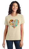 Ladies Natural Italy Icon Heart - Italian Love Culture Pride Heritage Cute Fun T-shirt
