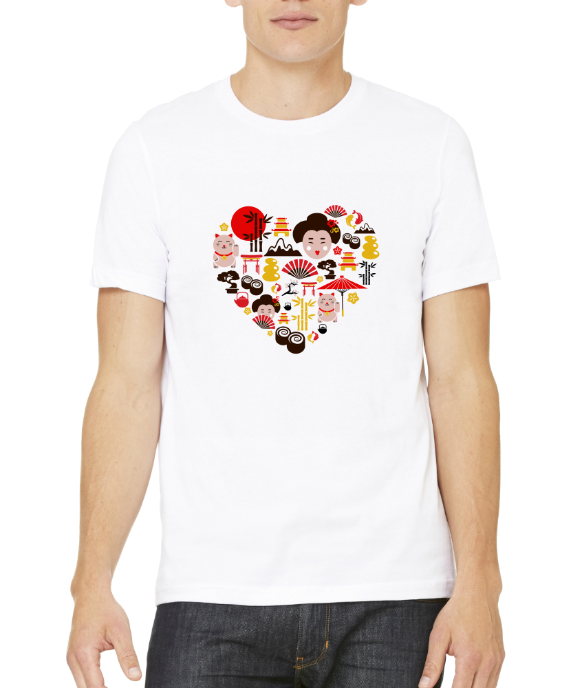 Standard White Japan Icon Heart - Japan Love Tokyo Culture Heritage Pride Cute T-shirt