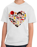 Youth White Japan Icon Heart - Japan Love Tokyo Culture Heritage Pride Cute T-shirt