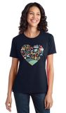 Ladies Navy Kentucky Icon Heart - Kentucky Love Pride Culture Heritage Cute T-shirt
