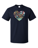 Standard Navy Kentucky Icon Heart - Kentucky Love Pride Culture Heritage Cute T-shirt