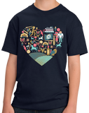 Youth Navy Kentucky Icon Heart - Kentucky Love Pride Culture Heritage Cute T-shirt
