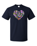 Standard Navy Louisiana Icon Heart - Lousiana Love Pride Heritage Culture Cute T-shirt