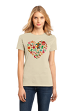 Ladies Natural Mexico Icon Heart - Mexico Love Heritage Pride Culture Cute Fun T-shirt