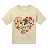 Youth Natural Mexico Icon Heart - Mexico Love Heritage Pride Culture Cute Fun T-shirt