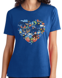 Ladies Royal Minnesota Icon Heart - Minnesota Love Pride Culture Cute Midwest T-shirt