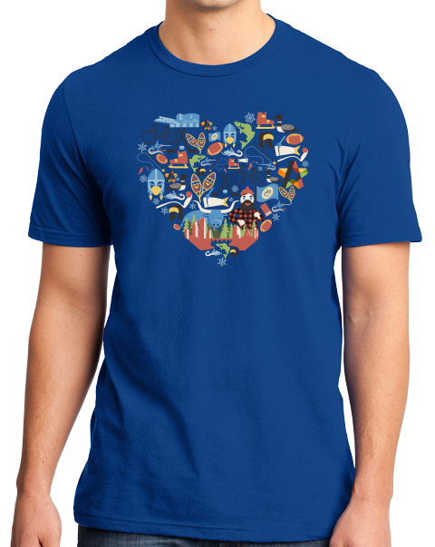 Standard Royal Minnesota Icon Heart - Minnesota Love Pride Culture Cute Midwest T-shirt