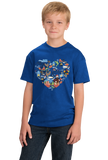 Youth Royal Minnesota Icon Heart - Minnesota Love Pride Culture Cute Midwest T-shirt