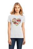 Ladies White Netherlands Icon Heart - Dutch Love Heritage Pride Cute Culture T-shirt