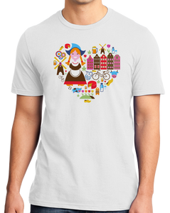 Standard White Netherlands Icon Heart - Dutch Love Heritage Pride Cute Culture T-shirt
