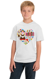 Youth White Netherlands Icon Heart - Dutch Love Heritage Pride Cute Culture T-shirt
