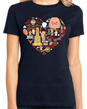Ladies Navy Pennsylvania Icon Heart - PA Love Pride Heritage Cute Symbols T-shirt