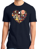 Standard Navy Pennsylvania Icon Heart - PA Love Pride Heritage Cute Symbols T-shirt