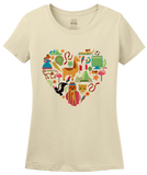 Ladies Natural Peru Icon Heart - Peruvian Love Pride Culture Machu Picchu Cute T-shirt