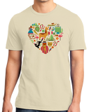 Standard Natural Peru Icon Heart - Peruvian Love Pride Culture Machu Picchu Cute T-shirt
