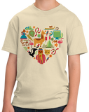 Youth Natural Peru Icon Heart - Peruvian Love Pride Culture Machu Picchu Cute T-shirt