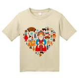 Youth Natural I Love Russia - Russian Love Heritage Pride Culture Cute Symbols T-shirt