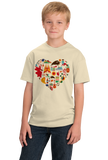 Youth Natural Spain Icon Heart - Spanish Love Pride Heritage Culture Cute Fun T-shirt