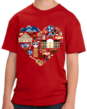 Youth Red Tennessee Icon Heart - Tennessee Love Pride Culture Symbols Cute T-shirt